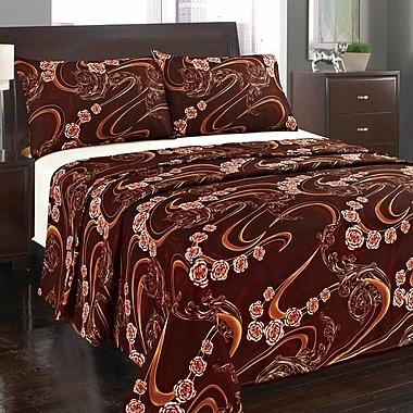 Tache Home Fashion Melted Flat Sheet Set; Full