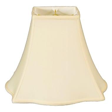 RoyalDesigns Timeless 18'' Silk Bell Lamp Shade; Eggshell/Off White