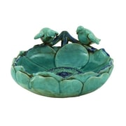 ABCHomeCollection Outdoor Ceramic Bird Basin Birdbath