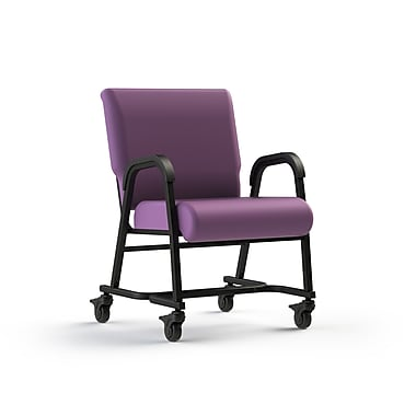 Comfor Tek Seating Mobility Assist 22'' Metal Arm Chair; Grape