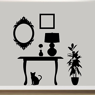 SweetumsWallDecals Furniture Silhouettes Wall Decal; Black