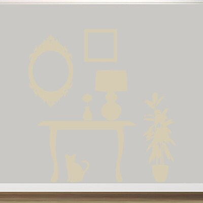 SweetumsWallDecals Furniture Silhouettes Wall Decal; Beige