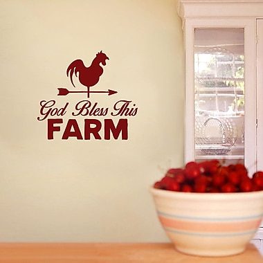 SweetumsWallDecals God Bless This Farm Wall Decal; Cranberry