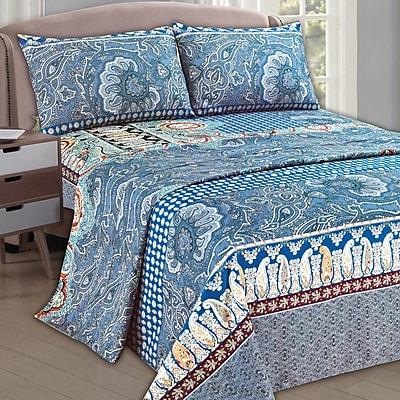 Tache Home Fashion Paisley Monarch 1000 Thread Count Sheet Set; California King