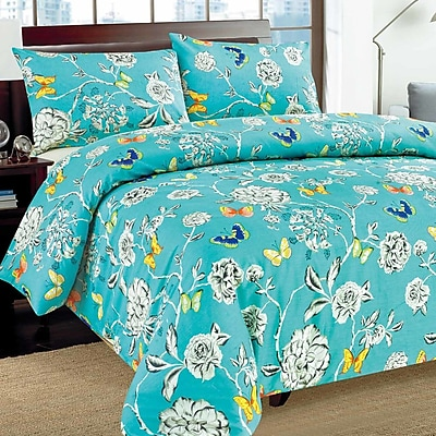 Tache Home Fashion Butterfly Wonderland Duvet Cover Set; California King