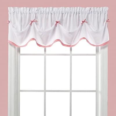 Saturday Knight Kayla 58'' Curtain Valance; Pink