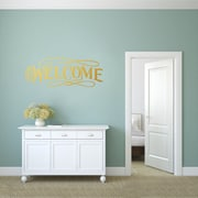SweetumsWallDecals Fancy Welcome Wall Decal; Gold