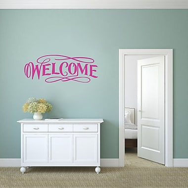 SweetumsWallDecals Fancy Welcome Wall Decal; Hot Pink
