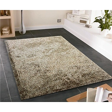 Rug Factory Plus Amore Hand-Tufted Brown/White Area Rug
