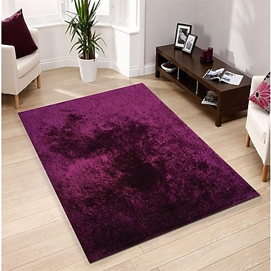 Rug Factory Plus Amore Hand-Tufted Magenta Area Rug