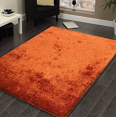 Rug Factory Plus Amore Hand-Tufted Rust Area Rug