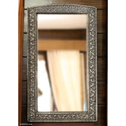 Novica Luxury Fair Trade Mirror Hand Crafted Repousse Brass Nickel
