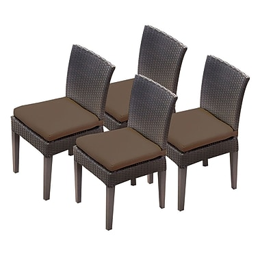 TK Classics Napa Dining Side Chair w/ Cushion (Set of 4) (Set of 4); Cocoa