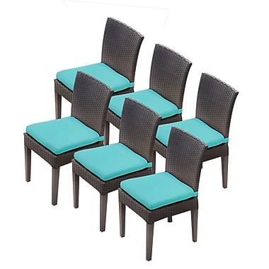 TK Classics Napa Dining Side Chair w/ Cushion (Set of 4) (Set of 6); Navy