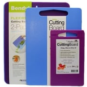 Linden Sweden 4 Piece Cutting Board Set; Blue / Purple