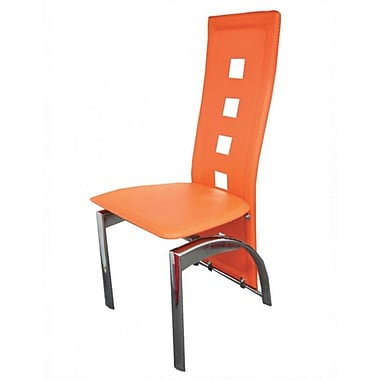 The Collection German Furniture Mestler Side Chair (Set of 4); Orange