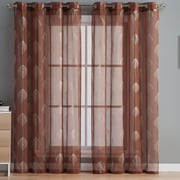 HLC.ME Jennifer Curtain Panels (Set of 2); Rust
