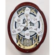 Rhythm Magic Motion Woodgrain Marvelous Wall Clock