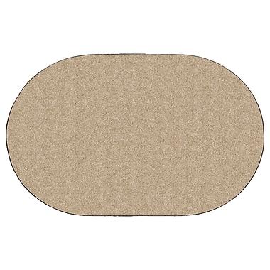 Flagship Carpets Americolors Almond Area Rug; Oval 12' x 18'