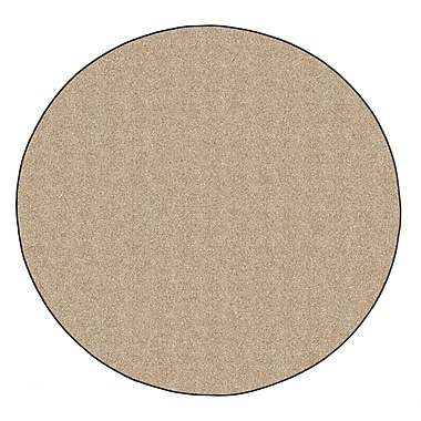 Flagship Carpets Americolors Almond Area Rug; Round 12'