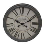 Woodland Imports Classic Wooden Clock