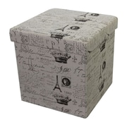 Woodland Imports Paris Storage Ottoman