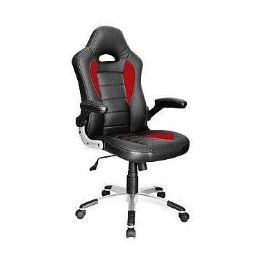 Just Cabinets Deluxe Gaming High-Back Executive Chair; Black / Red
