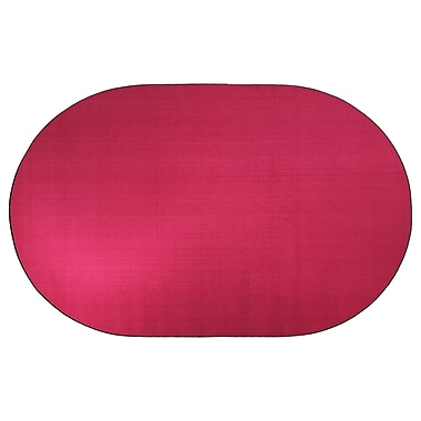 Flagship Carpets Americolors Cranberry Area Rug; Oval 6' x 9'