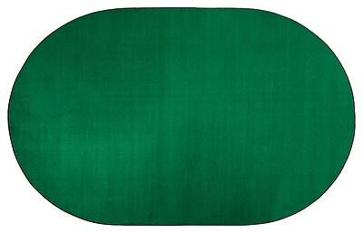 Flagship Carpets Americolors Clover Green Area Rug; Oval 12' x 18'