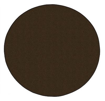 Flagship Carpets Americolors Chocolate Area Rug; Round 6'