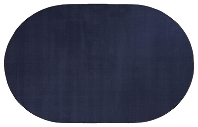 Flagship Carpets Americolors Navy Area Rug; Oval 12' x 18'