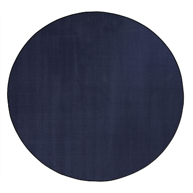 Flagship Carpets Americolors Navy Area Rug; Round 6'