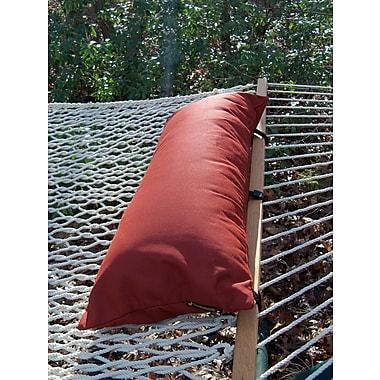 Twin Oaks Hammocks Sunbrella Hammock Outdoor Bolster Pillow; Terra