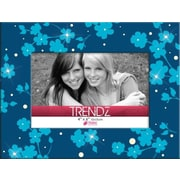Timeless Frames Trendz Floral Glass Tabletop Photo Frame; Turquoise