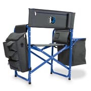 Picnic Time Fusion Chair; Dallas Mavericks/Grey-Blue