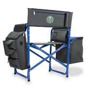 Picnic Time Fusion Chair; Denver Nuggets/Grey-Blue