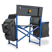 Picnic Time Fusion Chair; Indiana Pacers/Grey-Blue