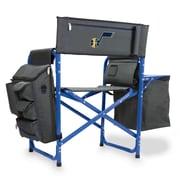 Picnic Time Fusion Chair; Utah Jazz/Grey-Blue