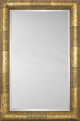 Mirror Image Home Mirror Style 81119 - Bullnose Gold Stripe And Mottle; 41.5'' H x 53.5'' W