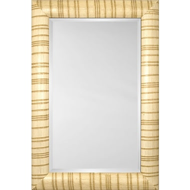Mirror Image Home Mirror Style 81124 - Bullnose Ivory Stripe; 46.5 x 66.5