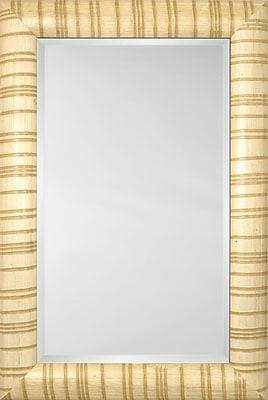 Mirror Image Home Mirror Style 81124 - Bullnose Ivory Stripe; 30.5'' H x 42.5'' W