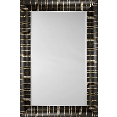 Mirror Image Home Mirror Style 81125 - Bullnose Ebony And Gold Stripe; 36.5 x 46.5