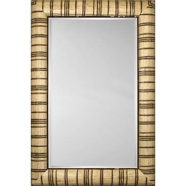 Mirror Image Home Mirror Style 81126 - Bullnose Ivory w/ Carmel Stripe; 30.5 x 42.5