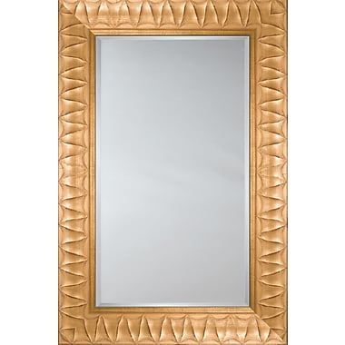 Mirror Image Home Mirror Style 81127 - Gold w/ ''V'' Detail; 29.25 x 33.25