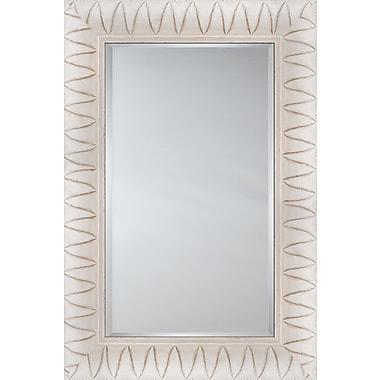 Mirror Image Home Mirror Style 81129 - Key West White w/ ''V'' Detail; 31.25 x 43.25
