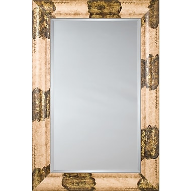 Mirror Image Home Mirror Style 81130 - Ivory Gold w/ Flat Leaf; 42.5 x 54.5