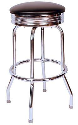 Richardson Seating Retro Home 24'' Swivel Bar Stool; Black