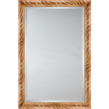 Mirror Image Home Mirror Style 81136 - Gold Red Wash Tadpole; 26.5 x 30.5