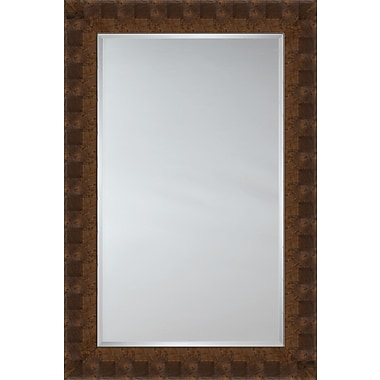 Mirror Image Home Mirror Style 81144 - Walnut Flat Face w/ Square Detail; 45.75 x 65.75