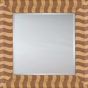 Mirror Image Home Mirror Style 81145 - Salmon Wood Stripe; 30.5 x 42.5